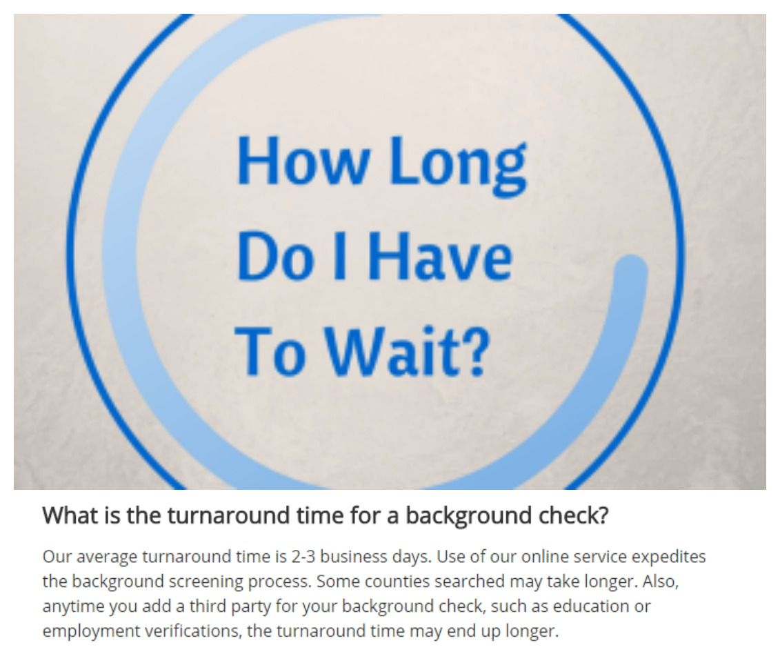 Curious how long it takes to get your background check