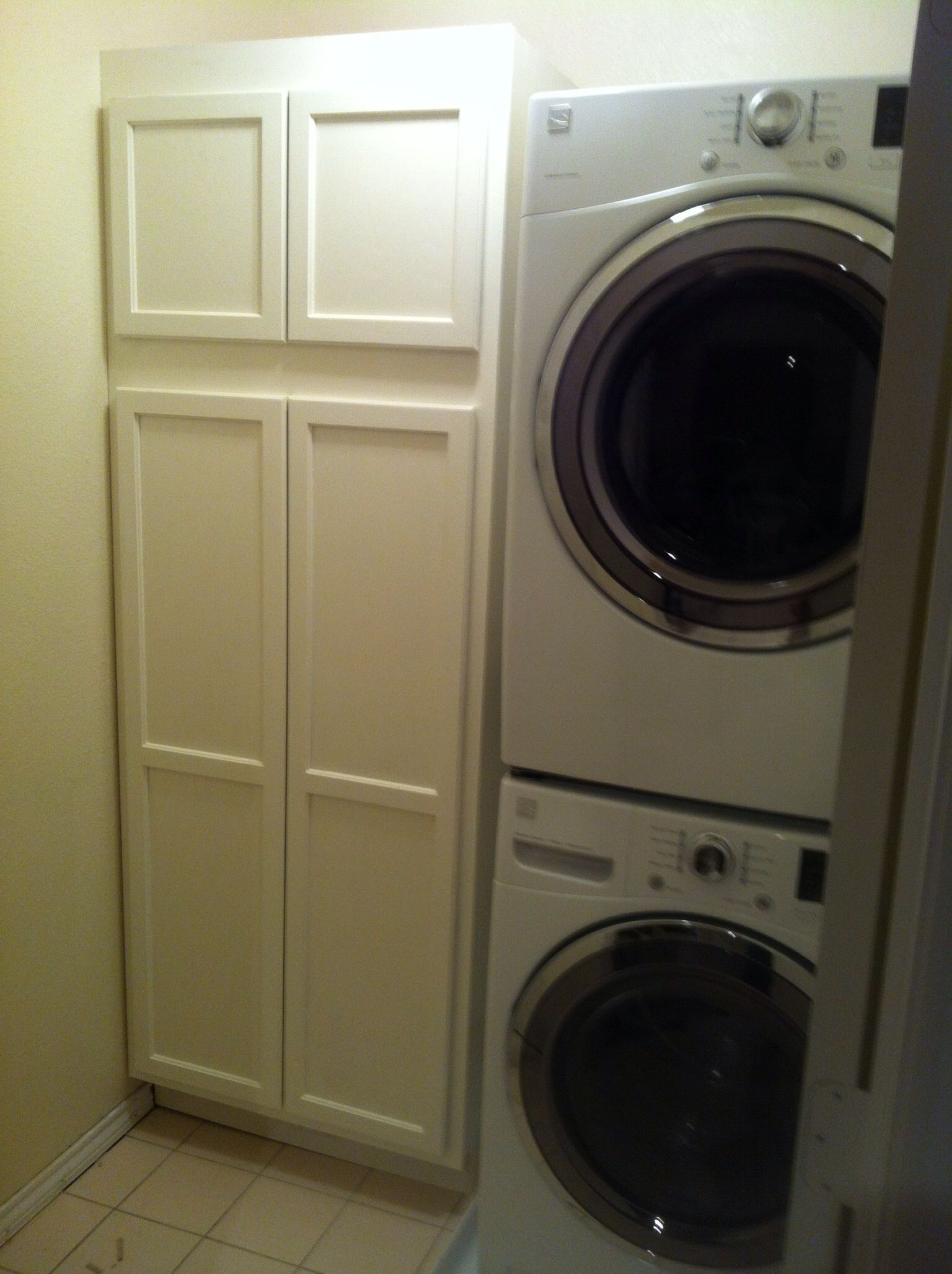 Small Laundry Room Pantry Combo Removed Side By Side Machines And