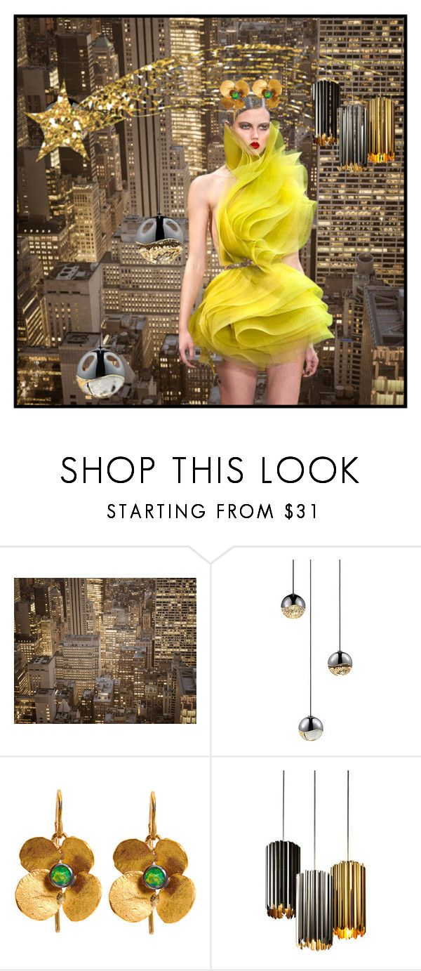 """Untitled #10541"" by awewa ❤ liked on Polyvore featuring Judy Geib and Tom Kirk Lighting"