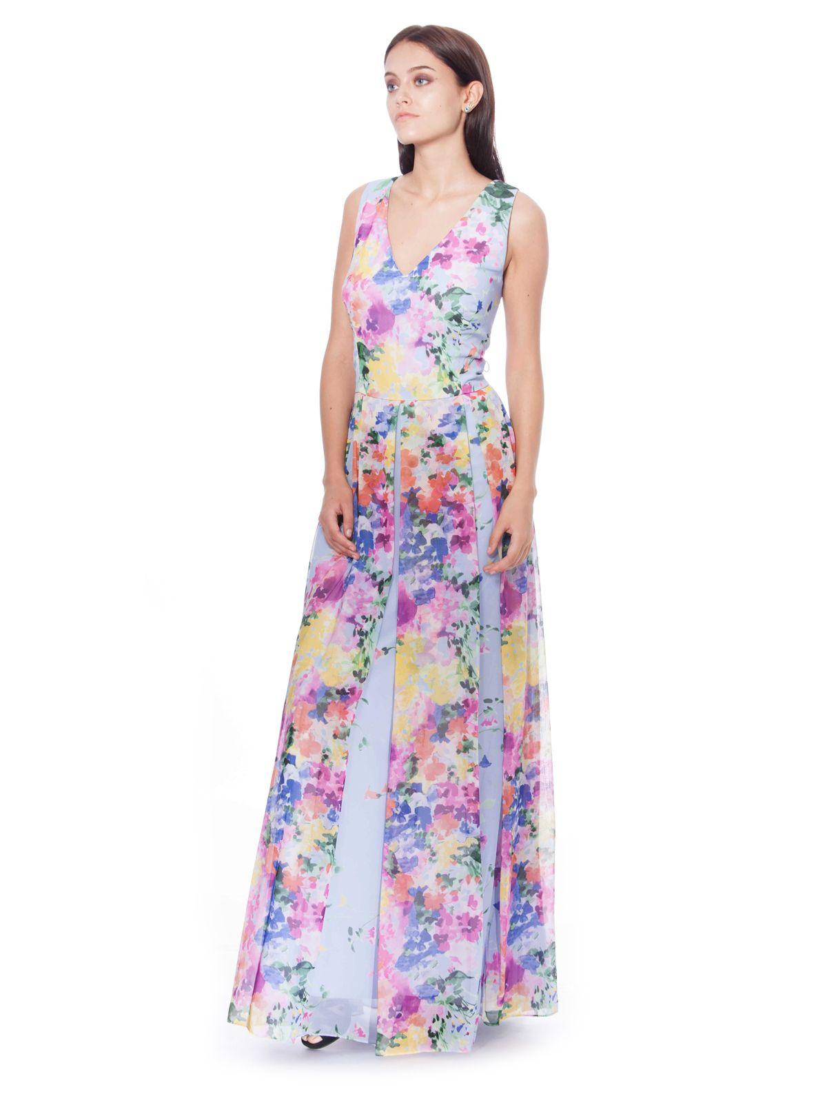DAVID MEISTER Floral printed chiffon gown  gown  gownstyle  eveningwear   eveninggown  designerwear  designerdress  onlineshopping  dubai  fashion   style ... a240c89fc