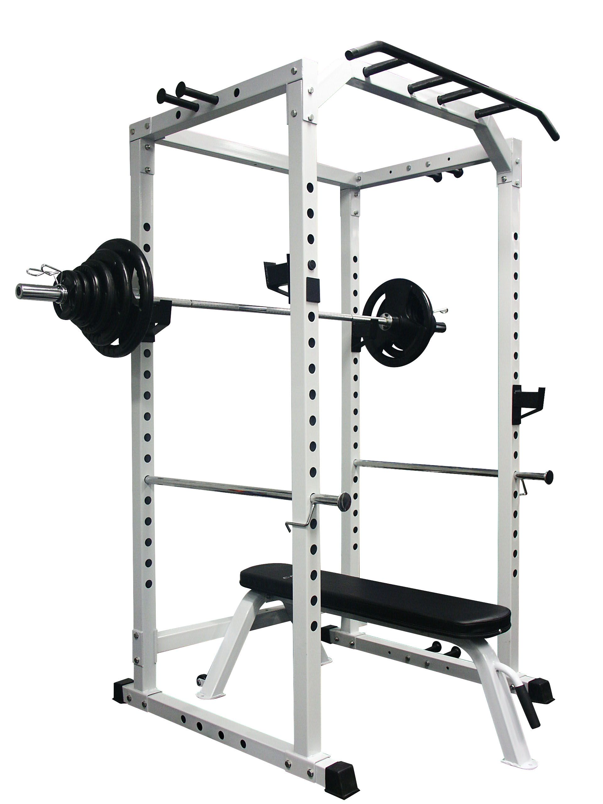 LC2 Power Rack + 100KG Olympic Weight Set + Flat Bench