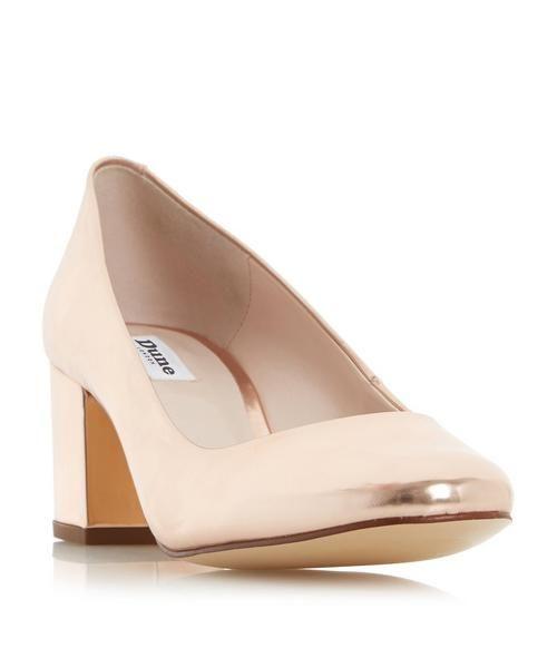 DUNE LADIES ANNALENA Block Heel Round Toe Court Shoe