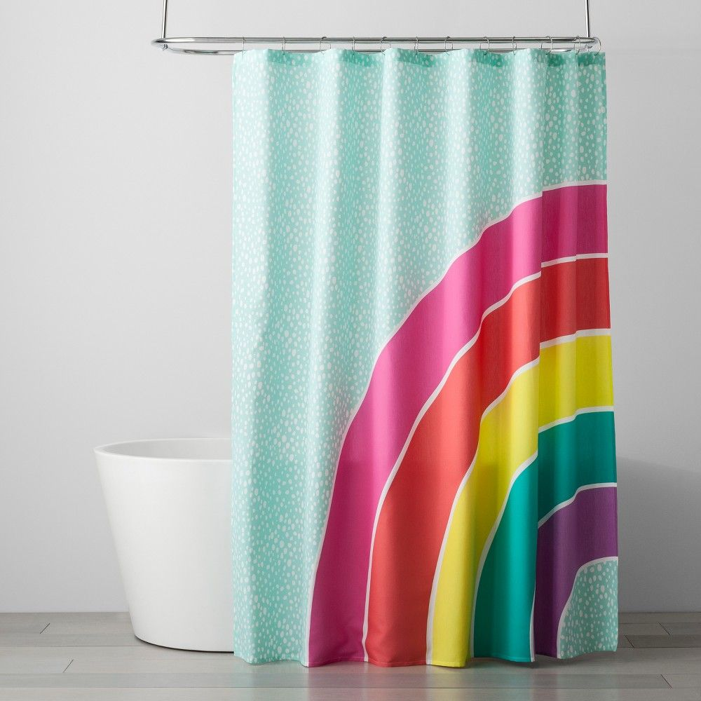 Rainbow Shower Curtain Pillowfort Rainbow Shower Curtain