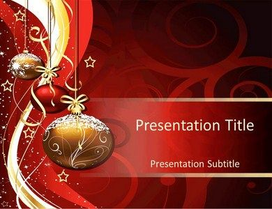 christmas template powerpoint templates | christmas | pinterest, Powerpoint templates