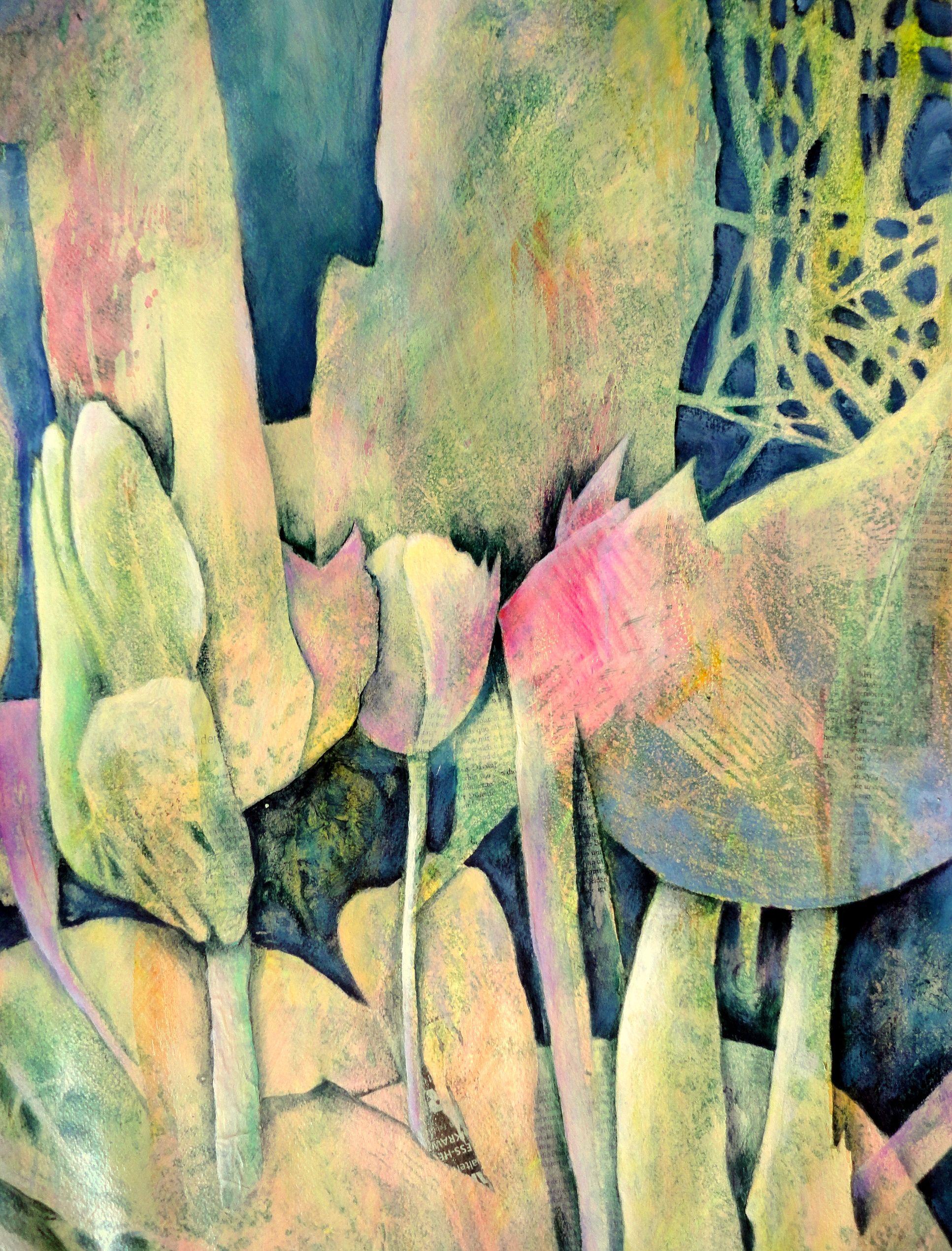 Acrylmalerei Kleine Lockerungsubung Acrylic Painting Loosening Up