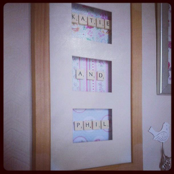 Shabby Chic Scrabble Letter Shadow Box i can write anything i like in this -- need more scrabble sets !!!!!!!