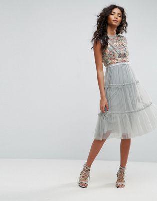 2d12a0937de Needle   Thread Sundaze Embellished Tulle Midi Dress