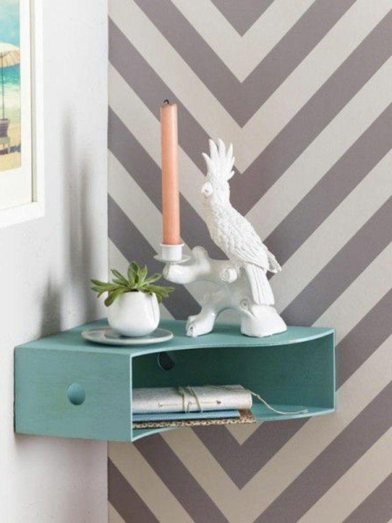 Nachttisch zum Einhängen – praktische Schlafzimmerlösung #diymöbel