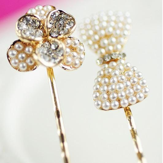 Wedding Hair Pins by shoppetitemaison on Etsy, $15.00