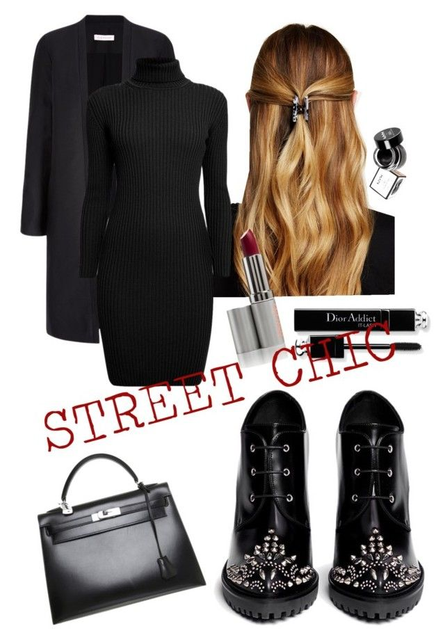 """""""Black always is a good idea"""" by ani-goguadze on Polyvore featuring Natasha Accessories, Alexander McQueen, Hermès, Rumour London and NYX"""