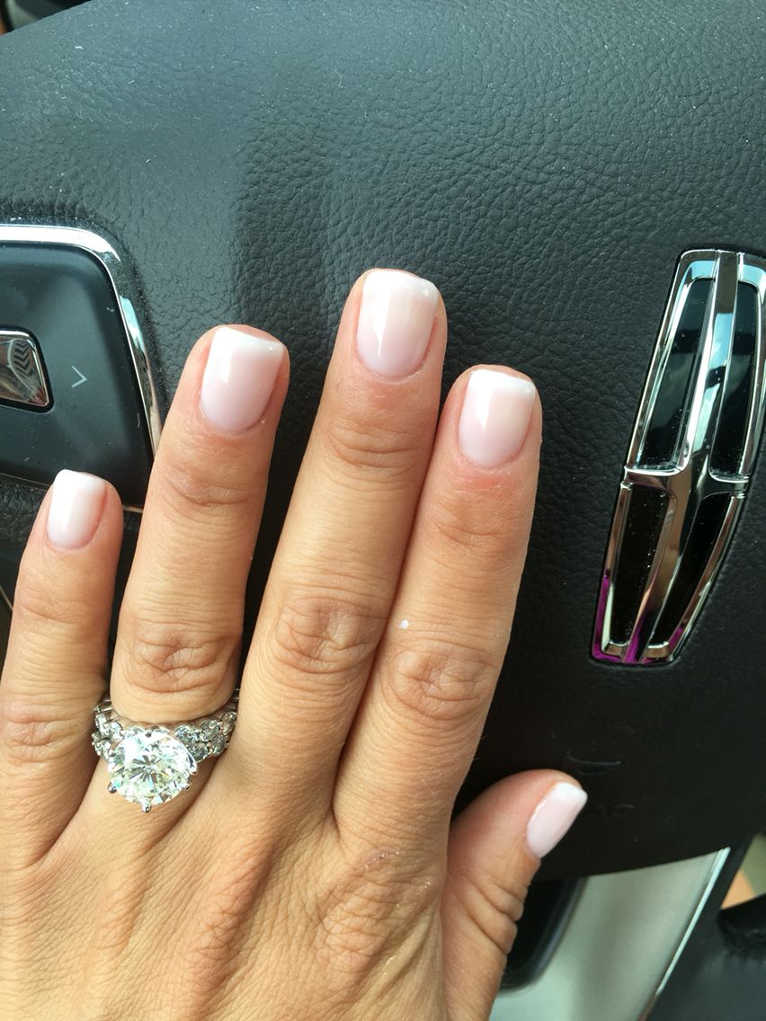 Nails inc gel nail colors and gel nail polish on pinterest - French Manicure Gel 2 Coats Of Funny Bunny Opi 1 Coat Of Bubble Bath Opi 1