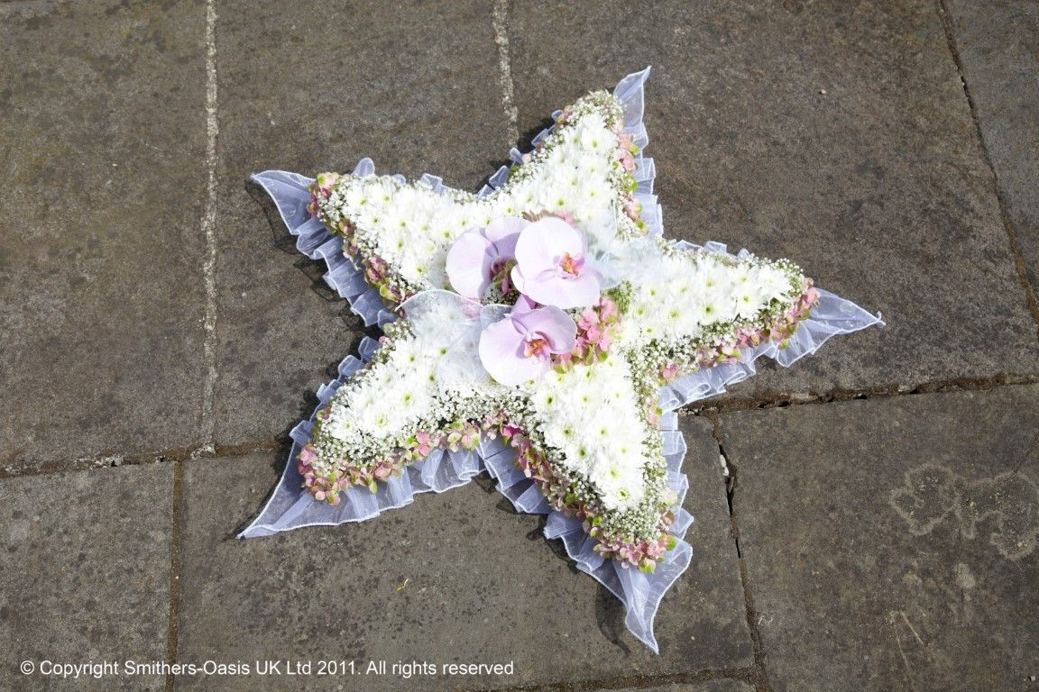 Star Funeral Tribute Sympathy Flowers Pinterest Funeral And