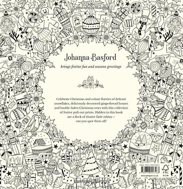 Johannas Christmas A Festive Colouring Book Books Amazonde Johanna Basford