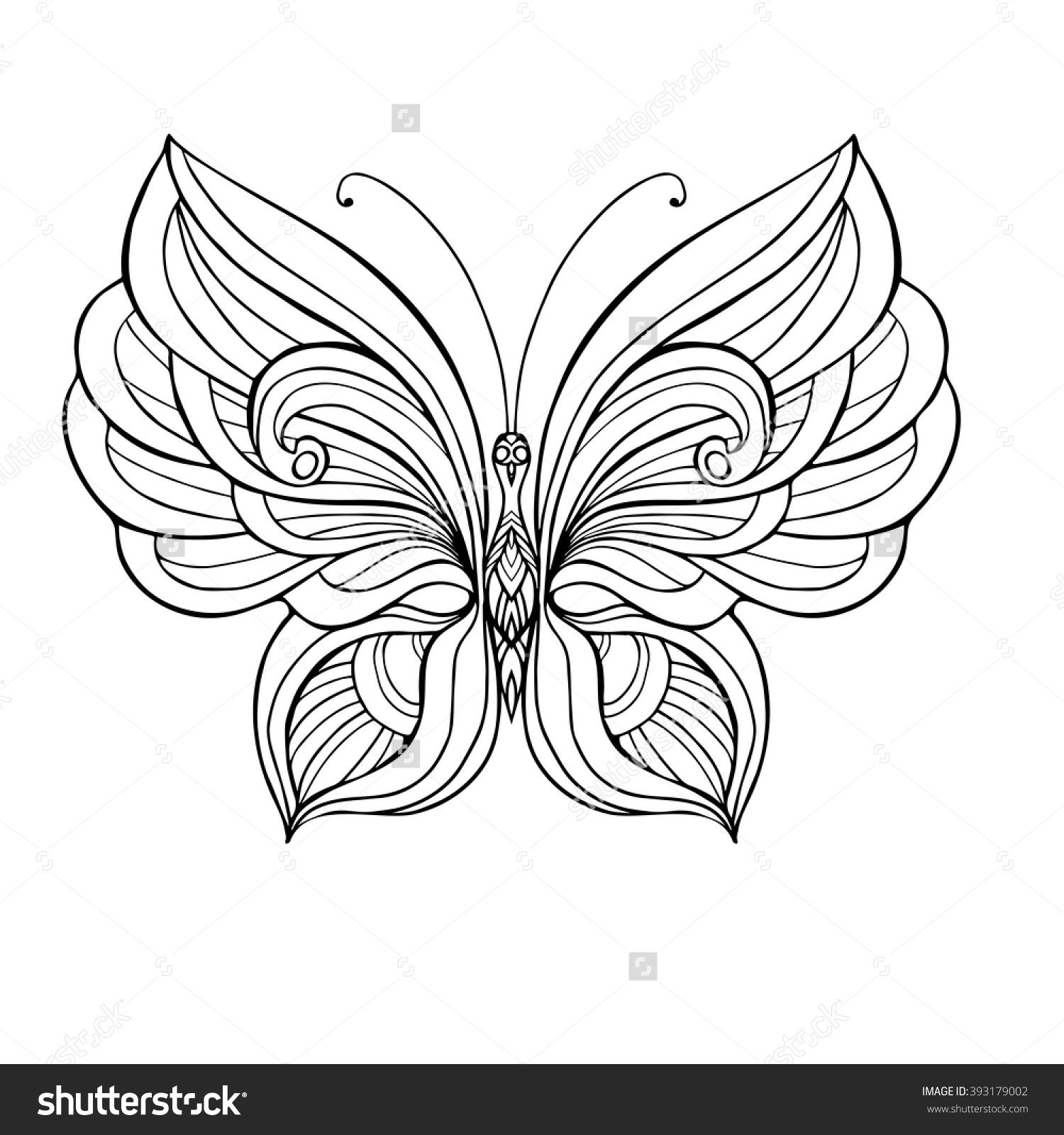 Popular Butterfly Coloring Book 76 Decorative butterfly Coloring