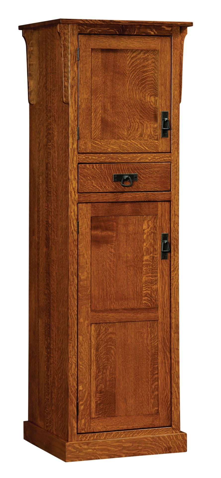 Amish Mission Two Door Pantry Honeyville Home And Kitchen Collection