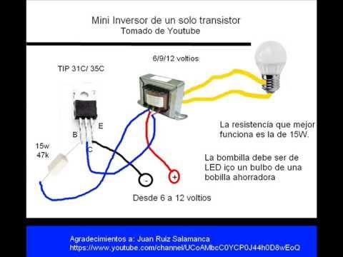 Inversor Casero Con Solo 4 Componentes Para Lamparas Cfl Y Tubos Ccfl Youtube Electronics Projects Circuito Electronico Electricidad Y Electronica