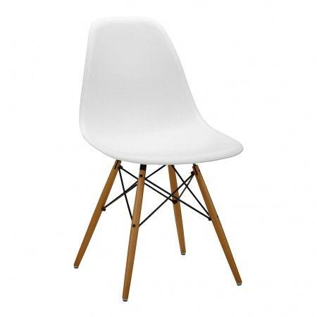 Chaise DSW blanche - piétement érable - Vitra | deco | Pinterest ...