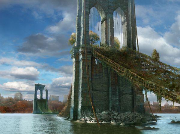 Post-apocalyptic brooklyn bridge