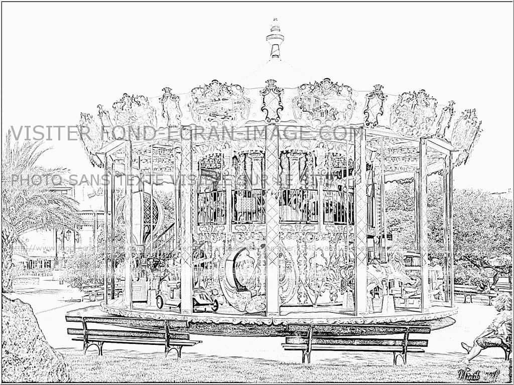 Carrousel Dessin imprimer coloriage 1548 vac 12f b sanary 22 carrousel cpf 1548