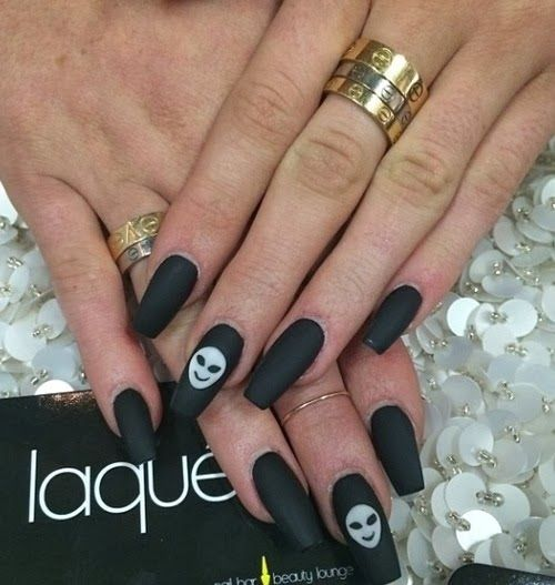 Coffin nails are perfect for halloween! see more over here ...