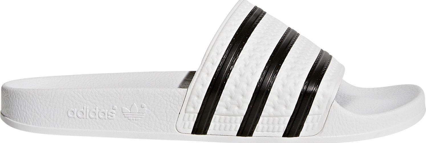 newest edfda 426f1 adidas Originals Men s Adilette Slides, Size  9.0, White
