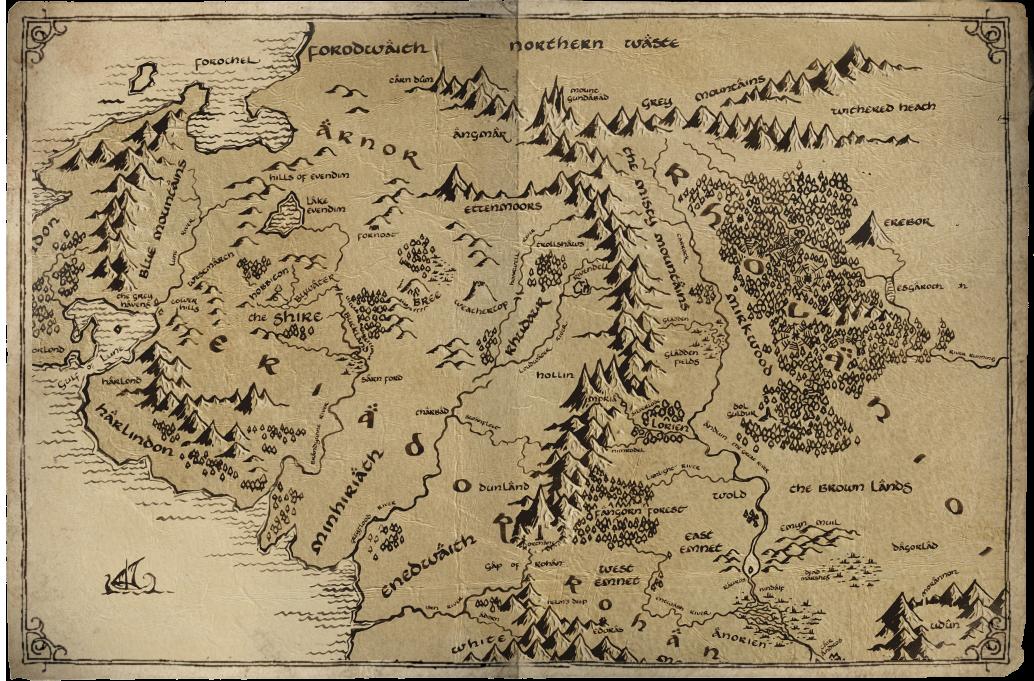 Mittelerde Karte Herr Der Ringe.Karte Mittelerde Postcards From Middle Earth The Hobbit