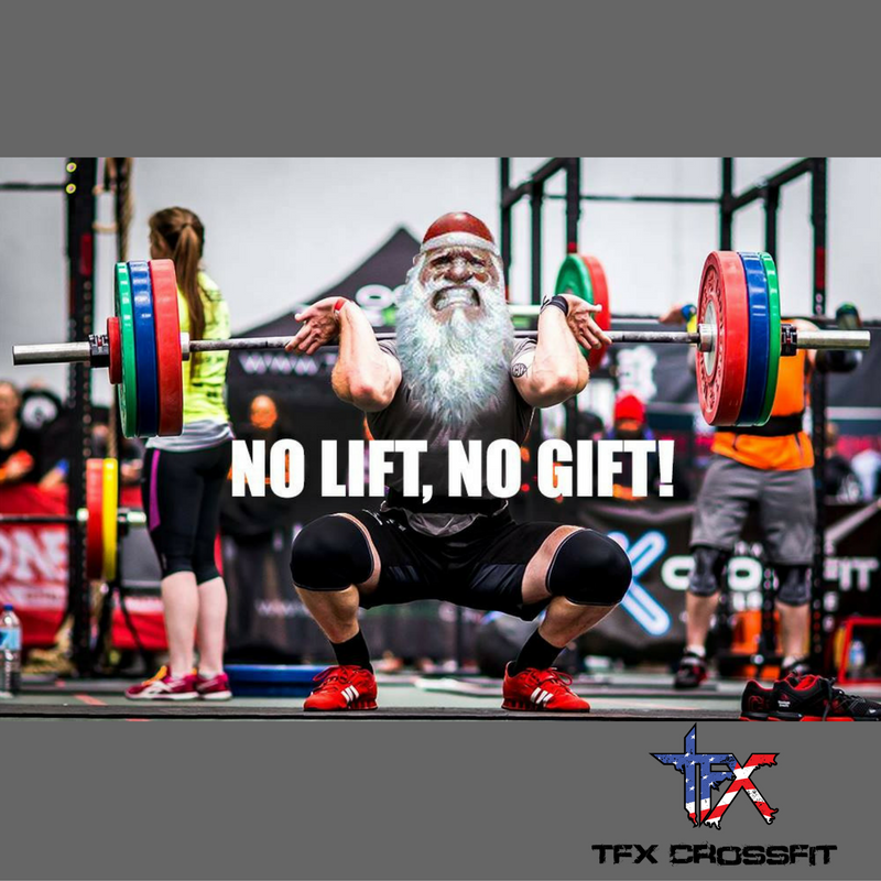 We Heard It From Santa Ourselves No Lift No Gift You Still Have Some Time To Squeeze In A Workout So You Better Get To Crossfit Gym Workout Cardio Workout