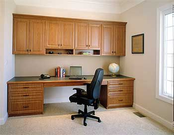 Superbe Unbelievable Home Office Built Cabinets