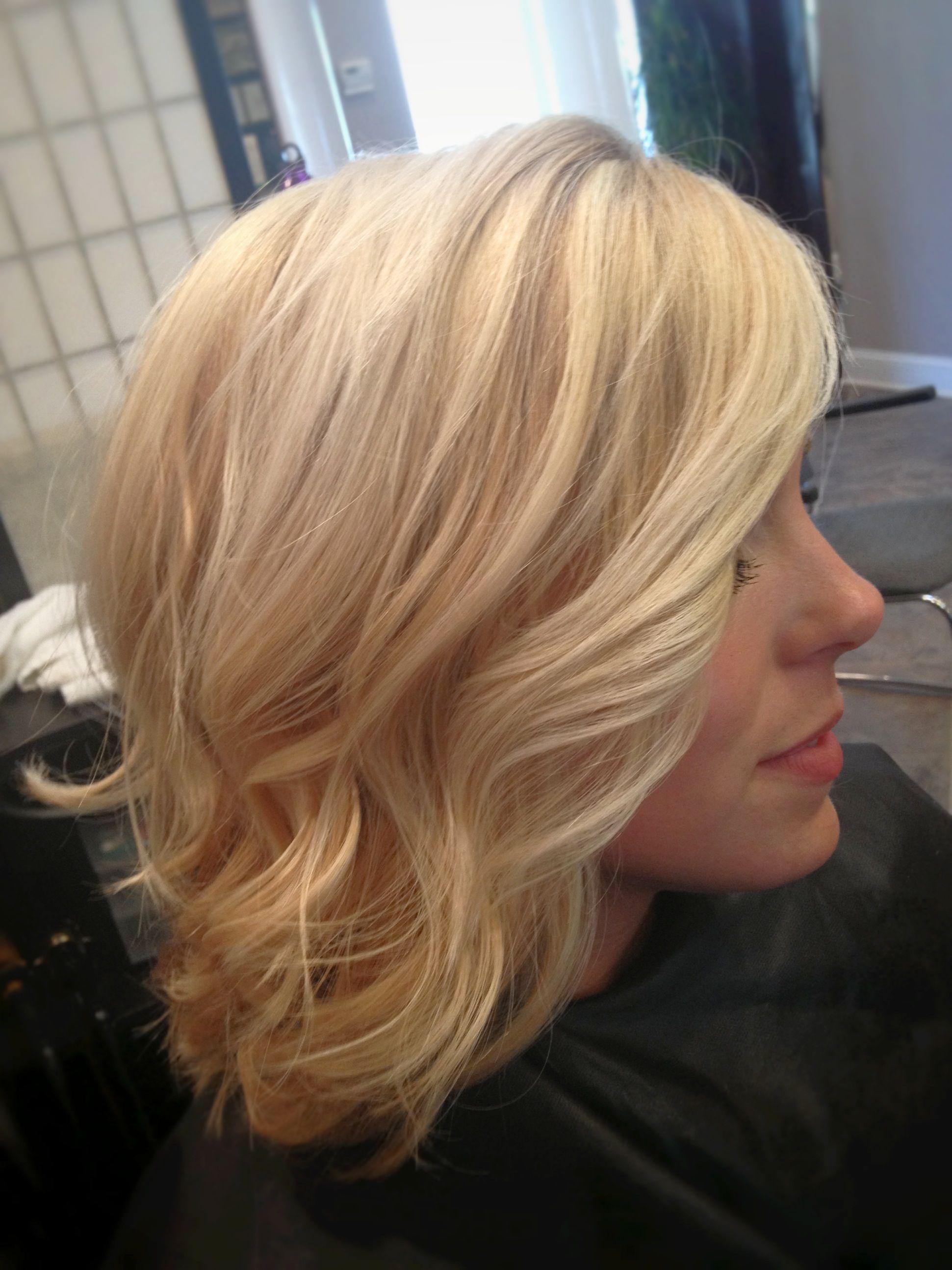 Soft blonde light but not platinum