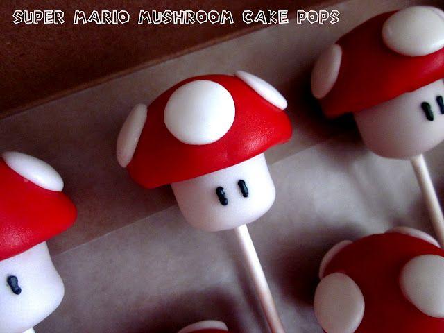 Creationz Super Mario Mushroom Cake Pops Mushroom Cake Cake