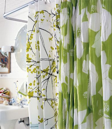 Great Artistic Show Curtain That Adds A Fun Color And Focal Point To The Space Modern Shower Curtains Cool Shower Curtains Elegant Bathroom