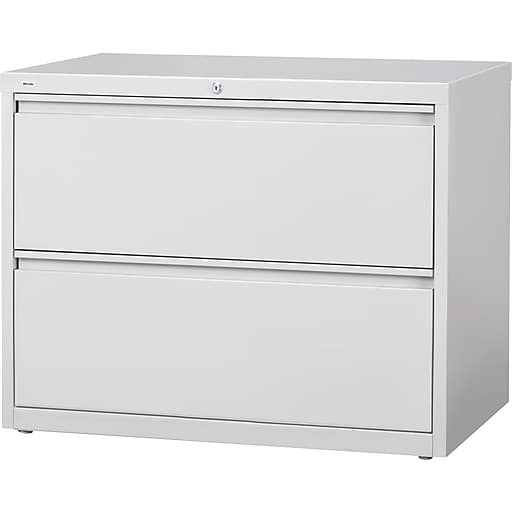 Staples Commercial 36 Wide 2 Drawer Lateral File Cabinet Gray At Staples Filing Cabinet Lateral File Cabinet Office File Cabinets