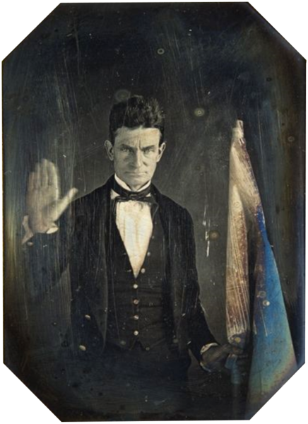 1846 47 Daguerreotype Of John Brown Abolitionist Holding The Flag Of Subterranean Pass Way His Militant Counter John Brown Abolitionist Abolitionist History