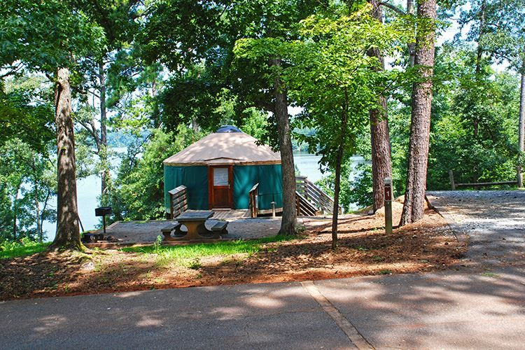State parks historic sites yurts at high falls