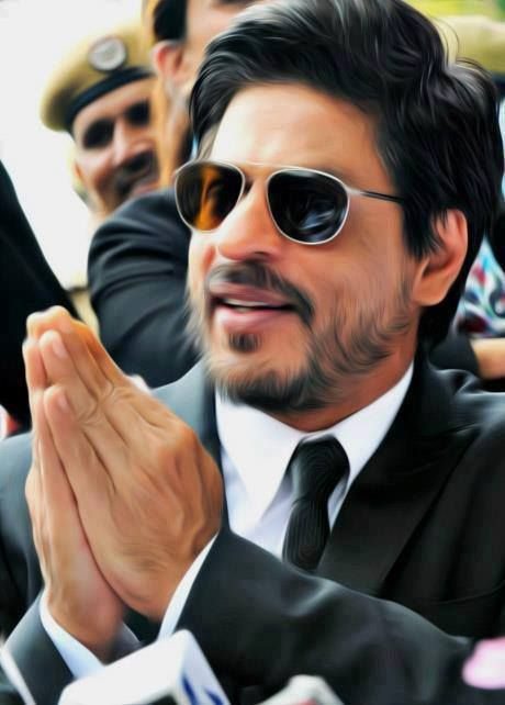 Shahrukh Khan. Hos beard and mustache look soooooo weird!