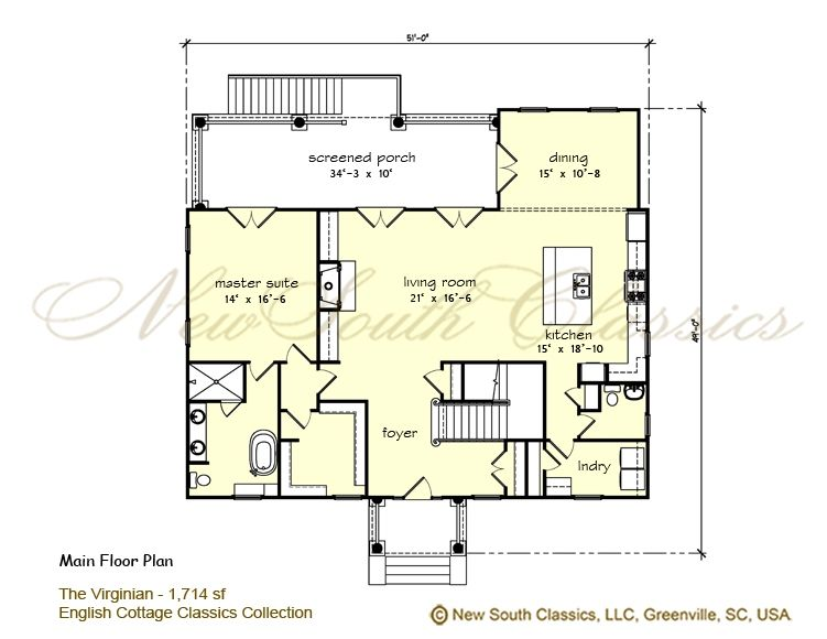 The Virginian Main Floor Plan Floor Plans The Virginian Georgian Style Homes