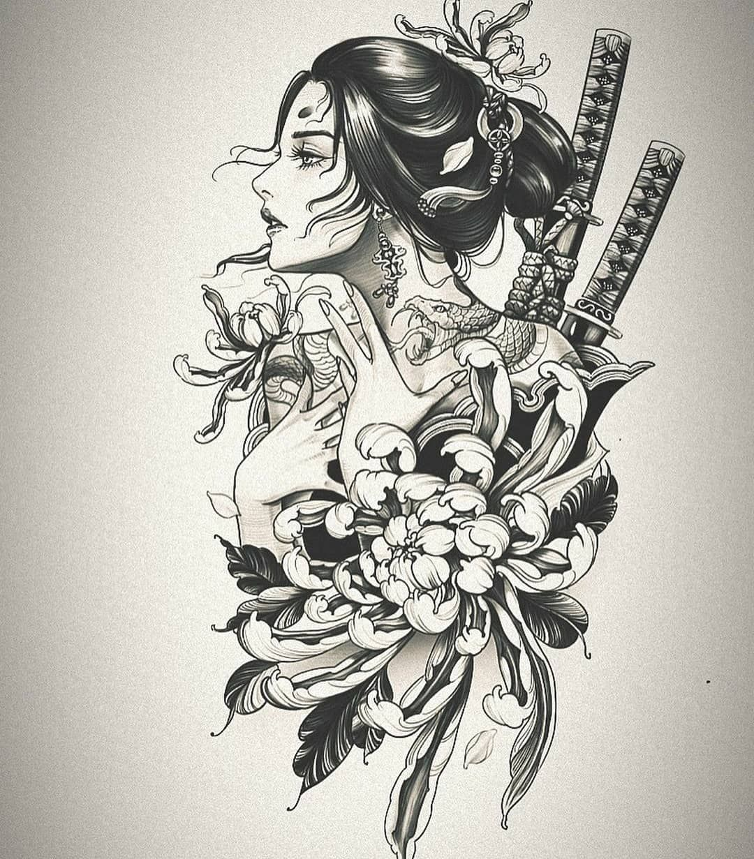 Tattoo Designs Gallery On Instagram Tattooidea Awesome Pieces From Cindy Chronicink I In 2020 Japanese Tattoo Samurai Tattoo Design Japanese Tattoo Designs