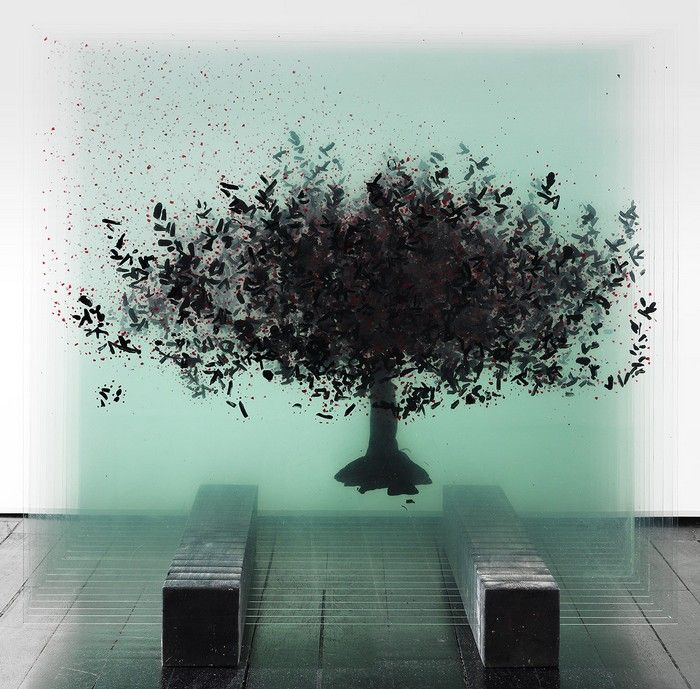 Glass artwork by Ardan Ozmenoglu | Glass sculpture, Layered art, Glass artwork