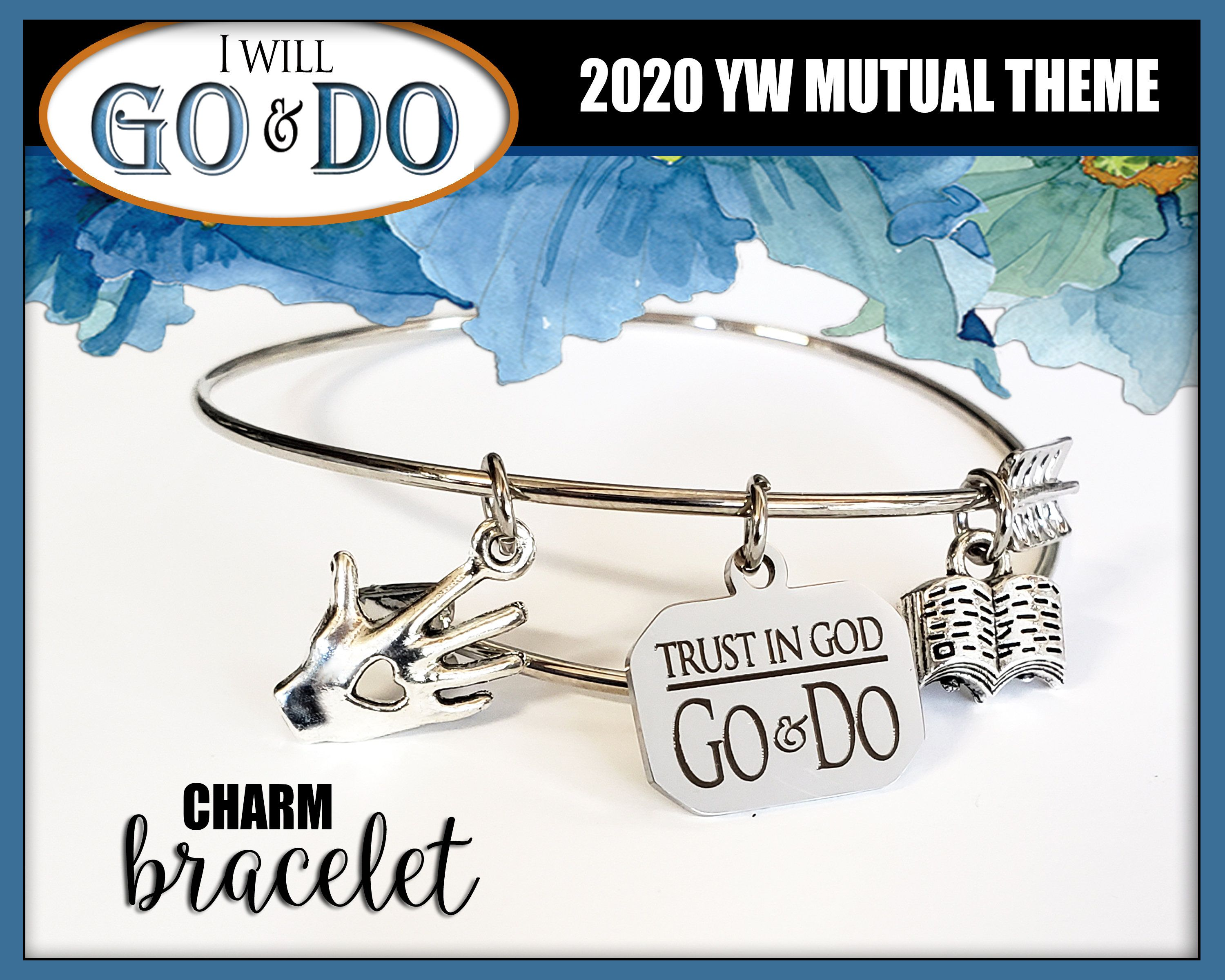 WHOLESALE Charm Bracelet YW 2019 Love /& Obedience Young Women LDS Mutual Theme Jewelry TurquoisE New Beginnings Christmas Birthday gift