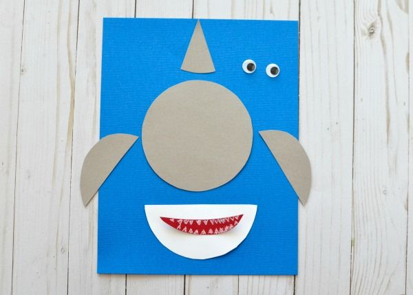 Shark Week Simple Paper Shark Craft Shark Craft Shark Week