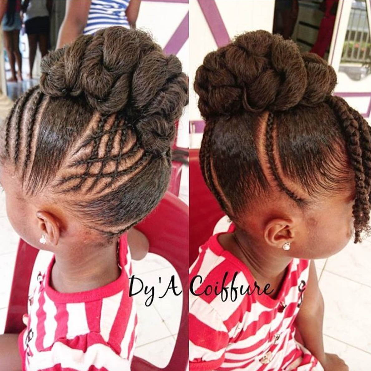 Adorable updo by dyacoiffure blackhairinformation