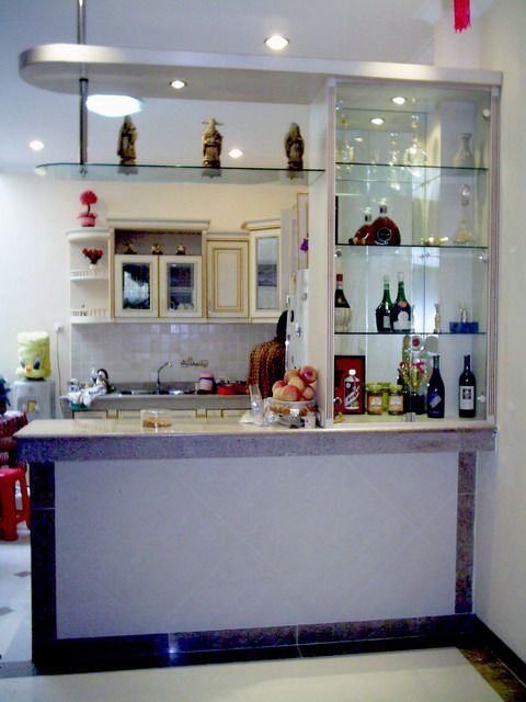 Nice Bar Counter Design | Mini Bar Design Picture With A Simple Model And Modern  / Pictures