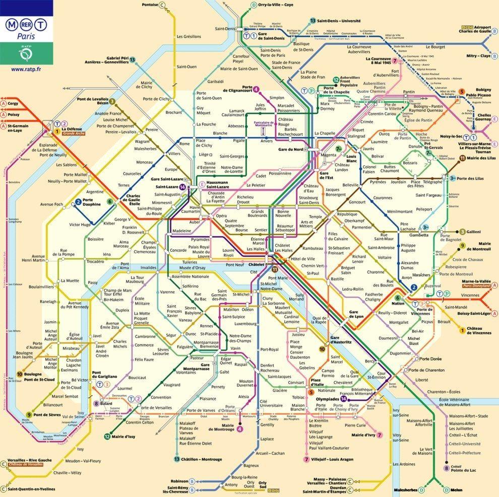 Ca C Est La Carte Officielle Du Metro Parisien Editee Par La