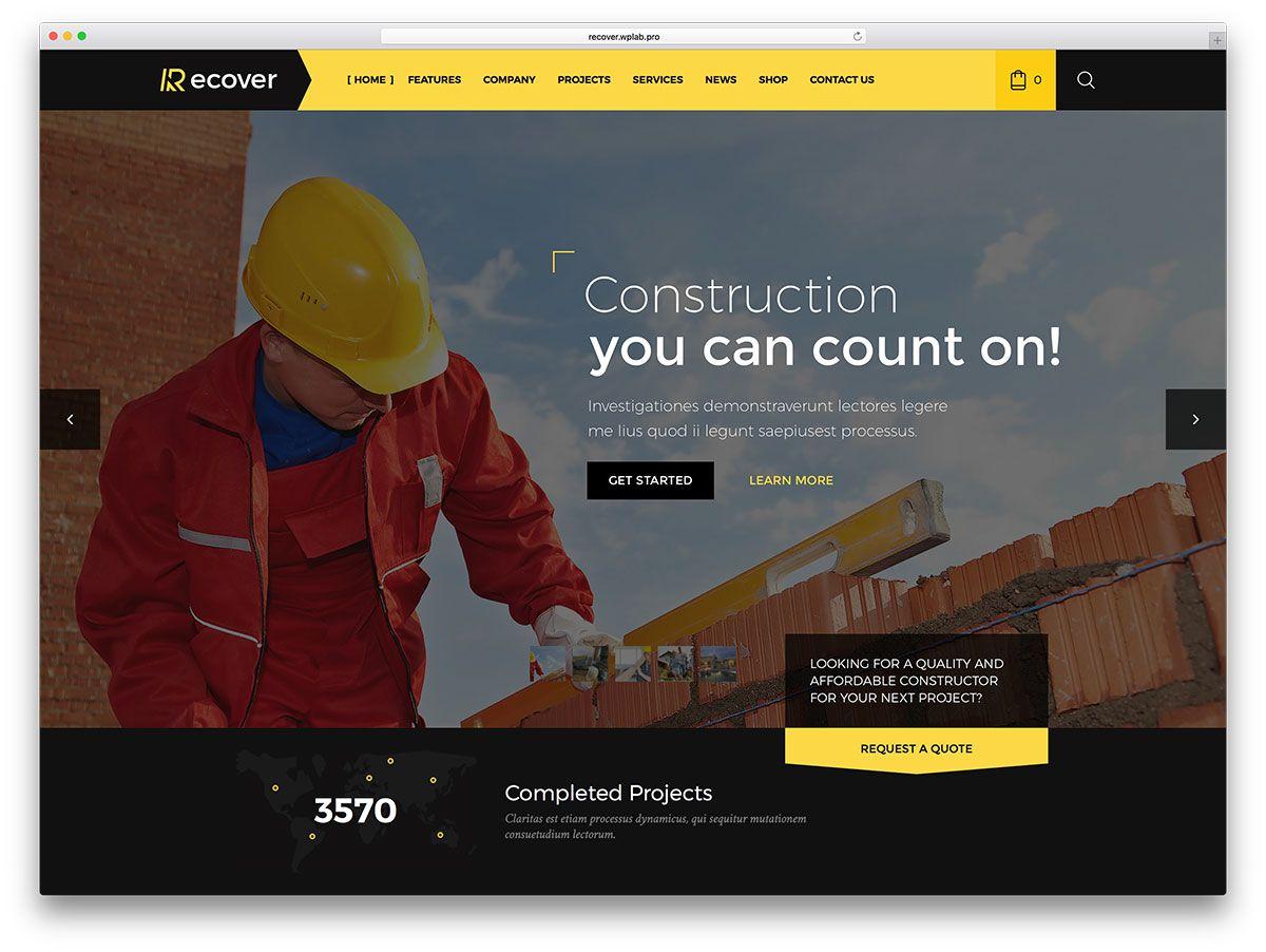 10-recover-Templates-para-Empresas-de-Construção-Responsive ...