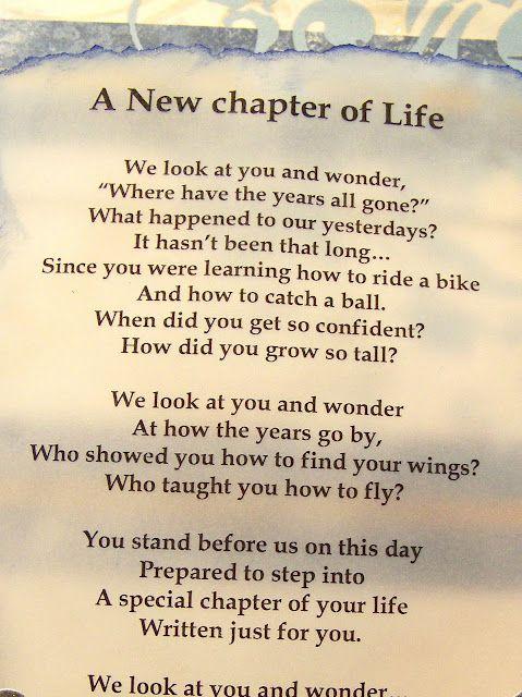 poem a new chapter of life graduation memories graduation