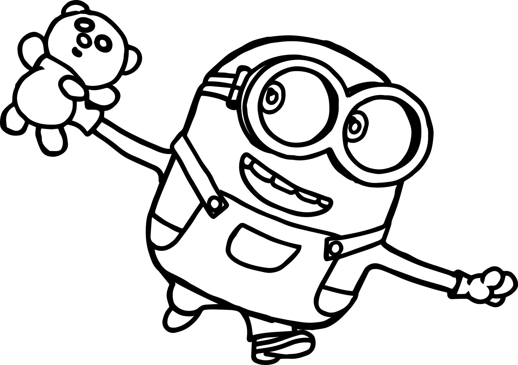 Bob Minions Movie 2015 Coloring Page With Images Minion