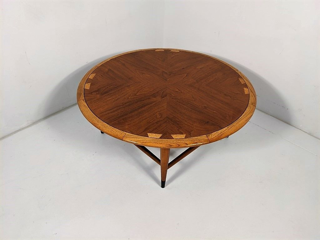 Mid Century Modern Circular Walnut Coffee Table Acclaim Series By Lane C 1962 Epoch Round Coffee Table Modern Walnut Coffee Table Coffee Table [ 768 x 1024 Pixel ]