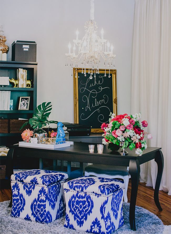 An Event Planner's Bright & Bold Office Office Decor