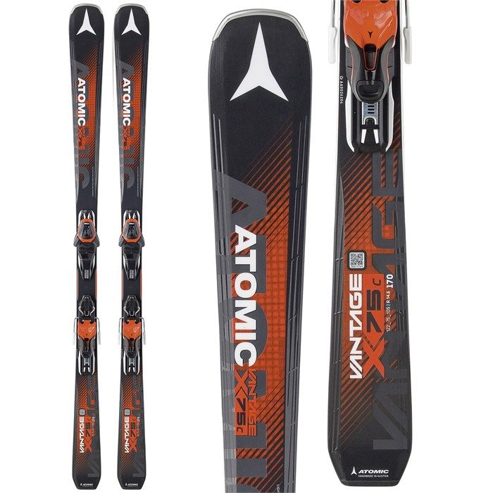 Atomic Vantage X 75 C Skis + Lithium 10 Bindings 2017