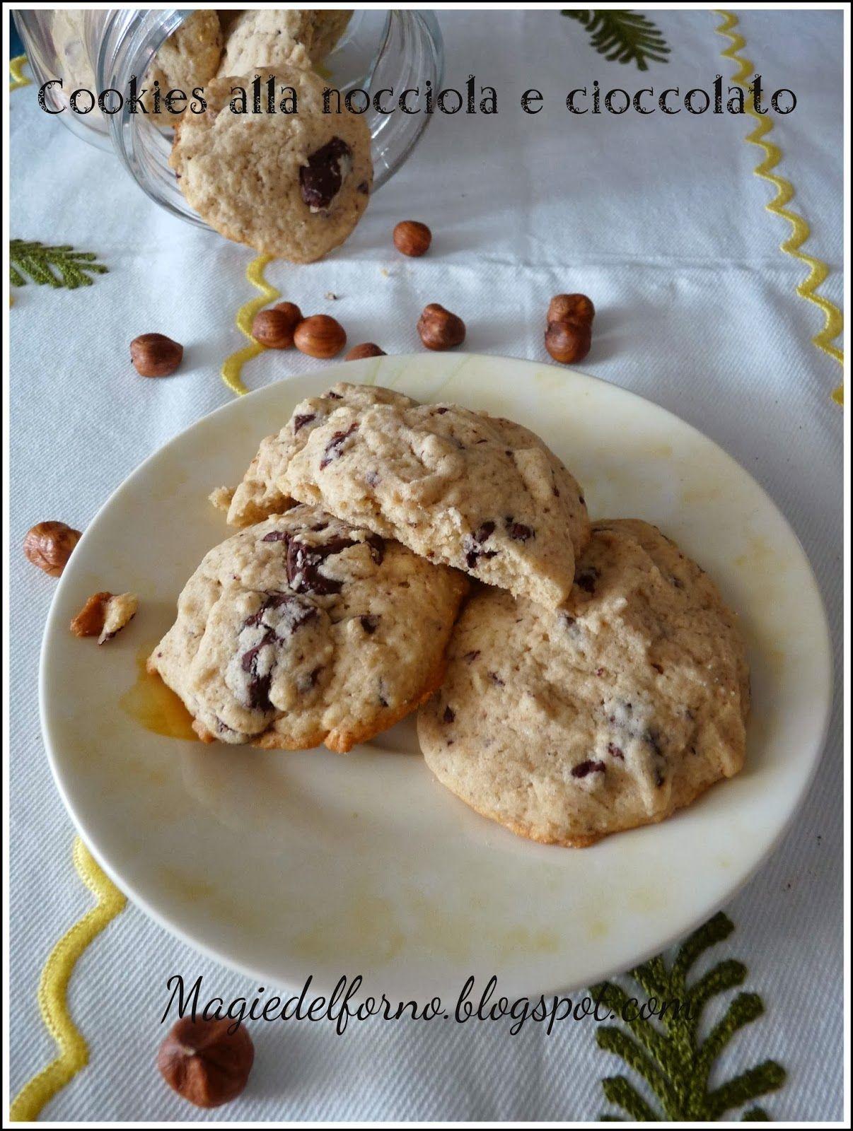 Magie del forno: Cookies alla nocciola e cioccolato